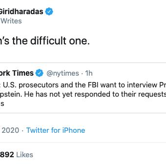 Anand Giridharadas vs Prince Andrew