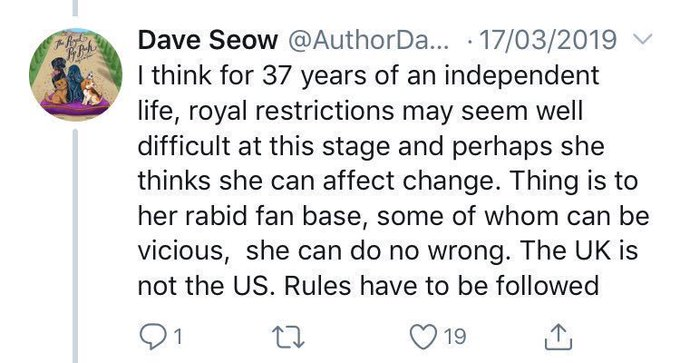 Dave Seow attacks Meghan