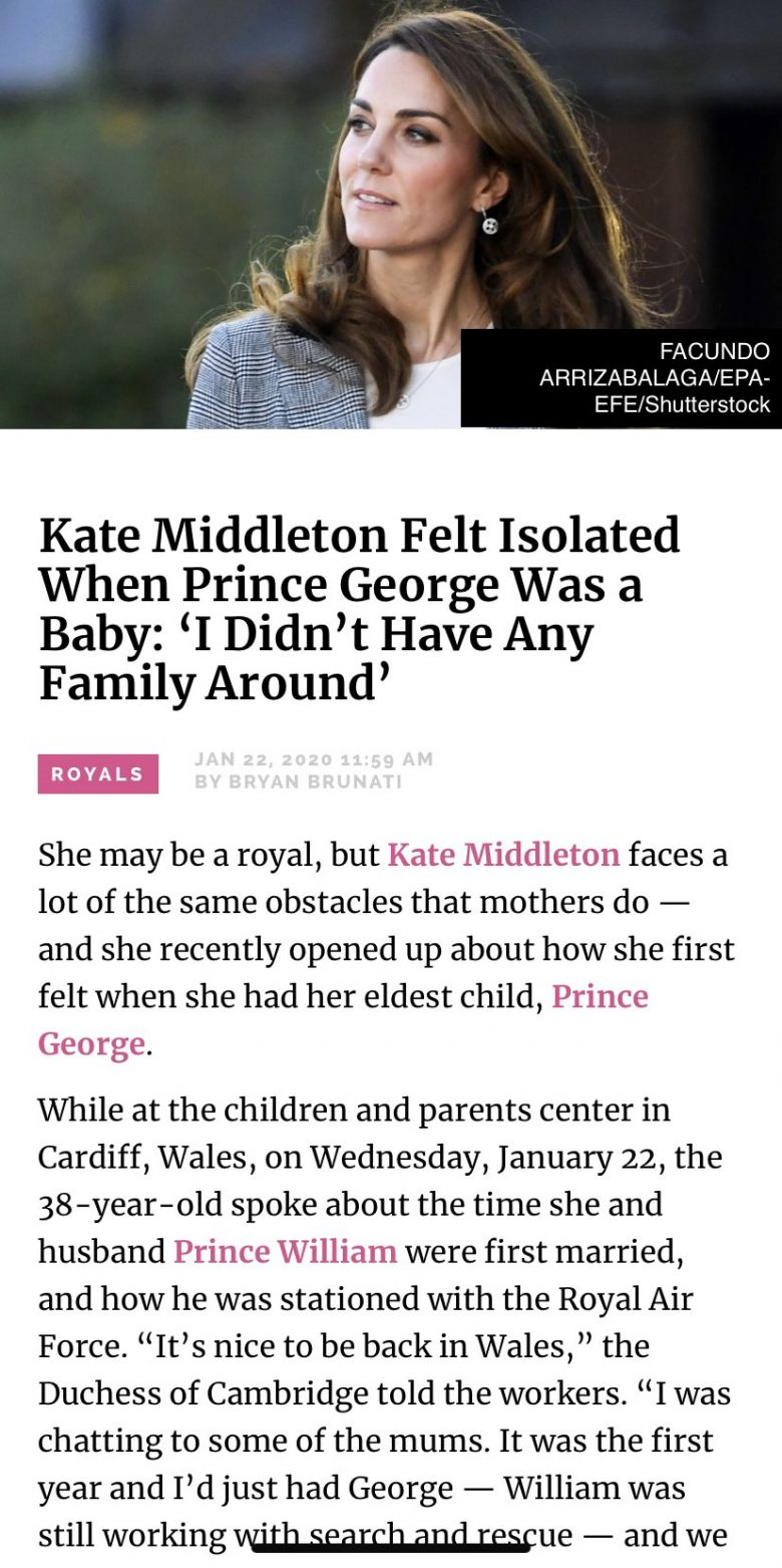 Stiff Upper Lip Be Damned! Kate Middleton Felt Isolated When George Was A Baby