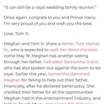 Thomas Markle Jr writes letter asking for wedding invite 4