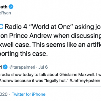 British media asking guests not to talk about Andrew