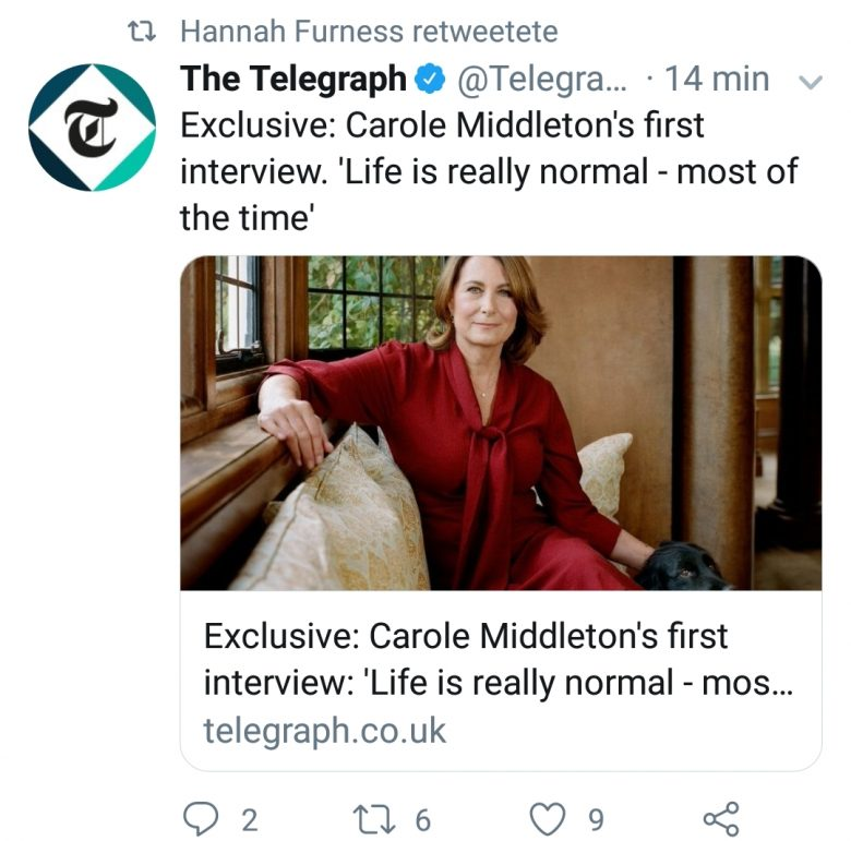 Carole Middleton and The Telegraph