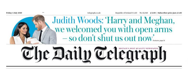 The Telegraph attacking the Sussexes