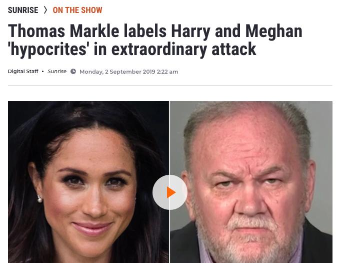 Thomas Markle attacks Harry and Meghan
