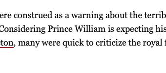 Prince William overpopulation remarks