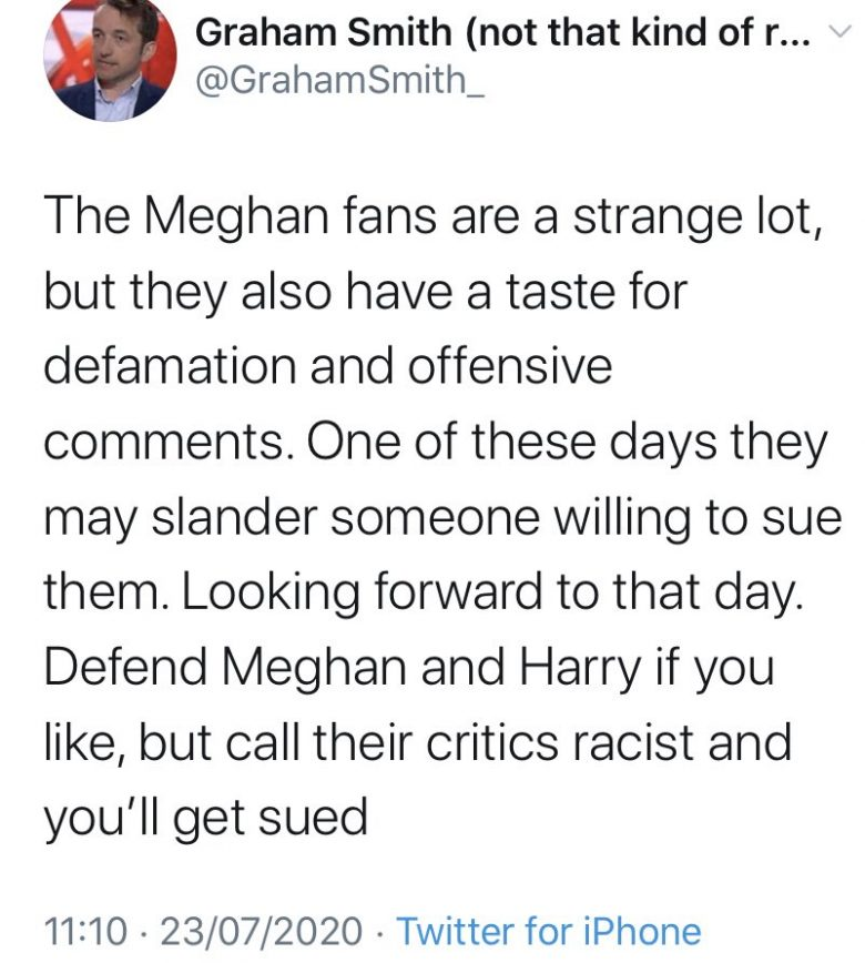 Graham Smith Racism