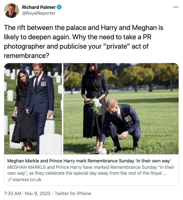 ichard Palmer's Meltdown Over Harry and Meghan
