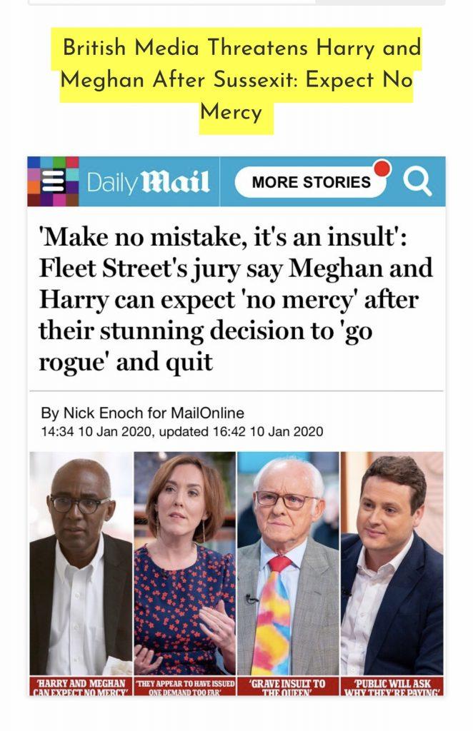 British media threatens Harry and Meghan