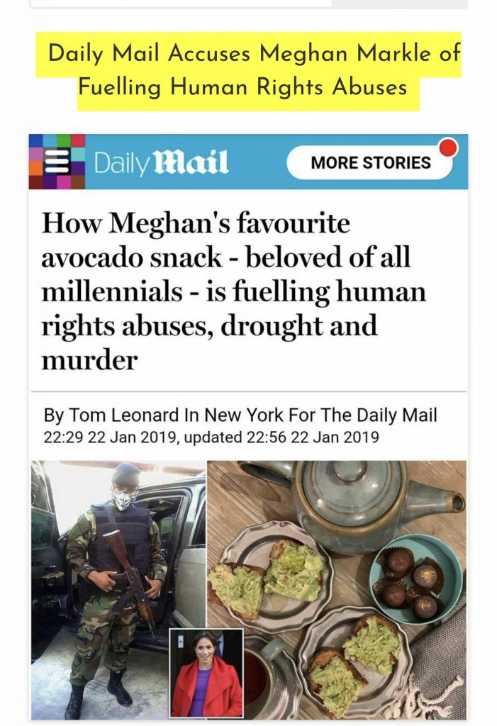 Daily Mail accuses Meghan Markle of human rights abuse