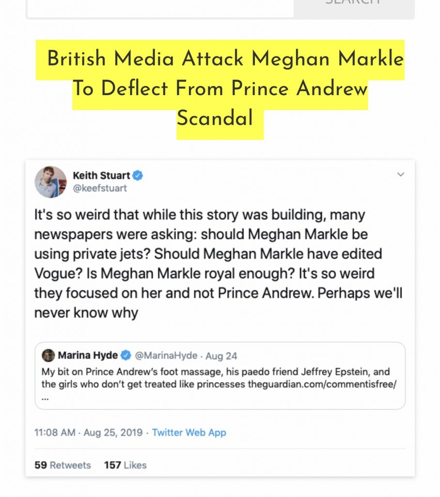 British media attacks Meghan to deflect from Andrew