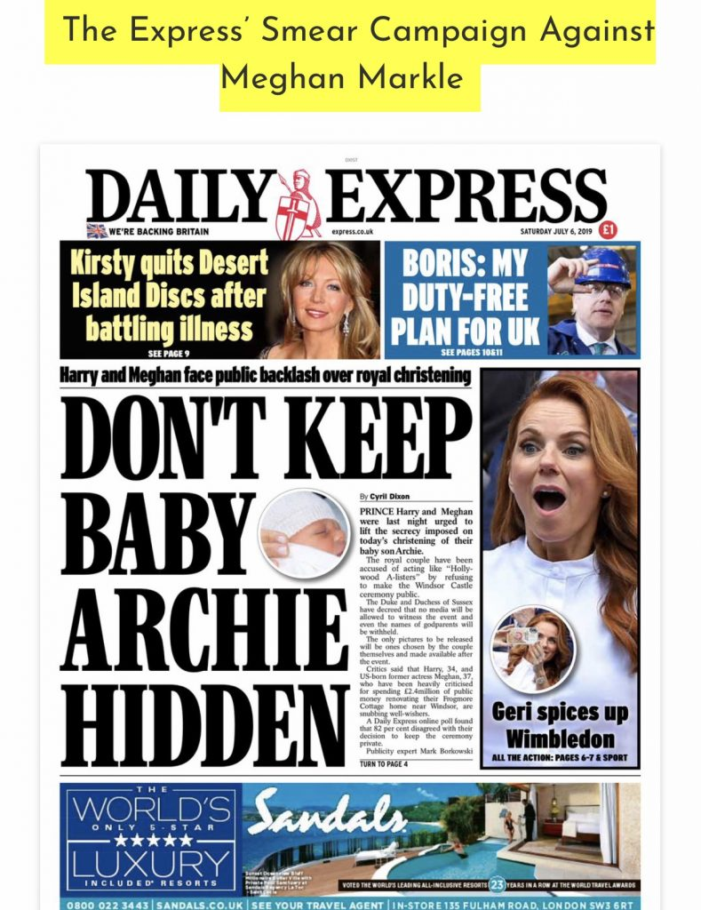 Daily Express attacks Meghan and Harry