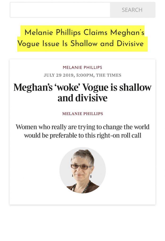Melanie Philips attacks Meghan