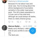 Richard Palmer Denying Racism